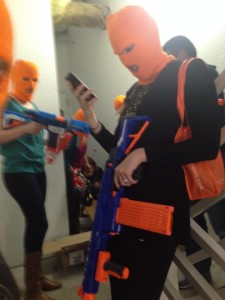 Orange Ski Masks
